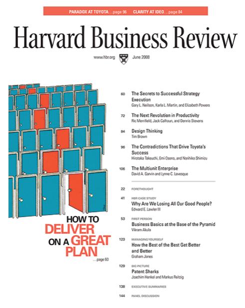 Design Thinking e HBR