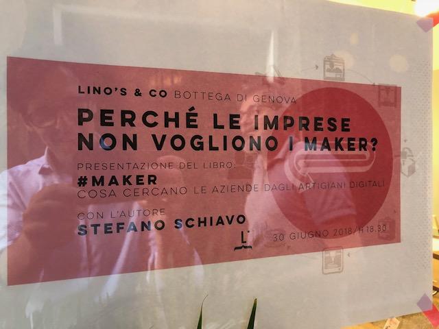 L'annuncio dell'evento Maker a Genova