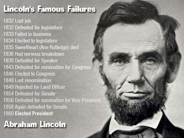 Lincoln e il fallimento