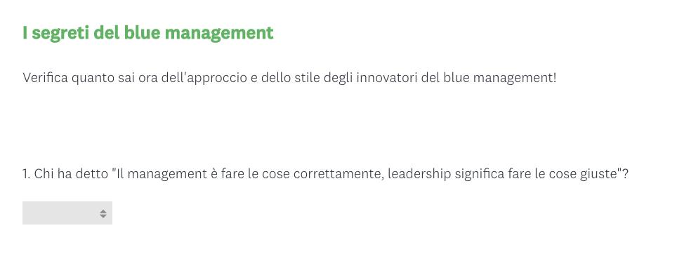 Survey blue management screenshot